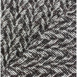 Tissu Tweed Chevron x 10cm