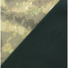 Nano-tex Water-repellent Softshell fabric ? Camo x 10cm
