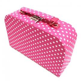 Moyenne boîte à couture en tissu fuchsia