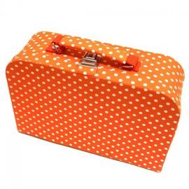 Grande boîte à couture en tissu orange