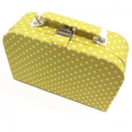 Moyenne boîte à couture en tissu jaune