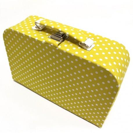 grande bo te couture en tissu jaune ma petite mercerie. Black Bedroom Furniture Sets. Home Design Ideas