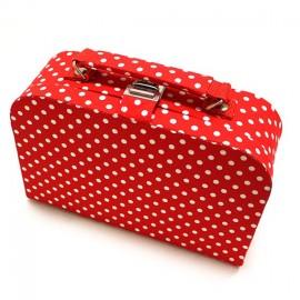 Moyenne boîte à couture en tissu rouge
