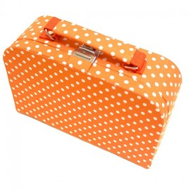 Medium size fabric-made sewing box - orange