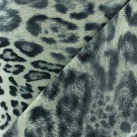 Suede Fabric - Panther x 10cm