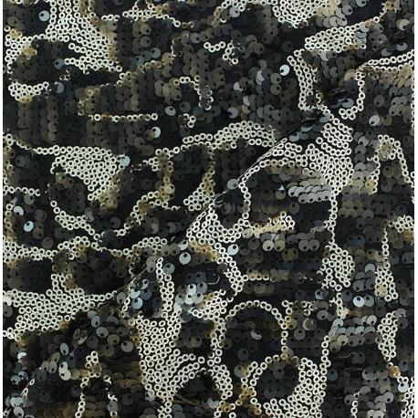 Tissu paillettes sirène mat beige x10cm
