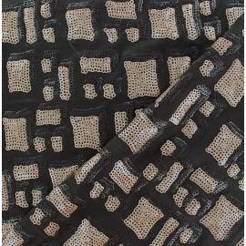 St Tropez Sequin Lycra Fabric - Beige x 10cm