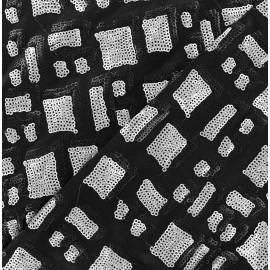 St Tropez Sequin Lycra Fabric - Grey x 10cm