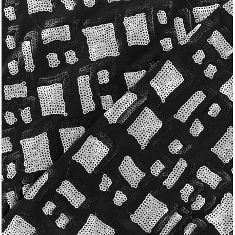 Tissu Lycra Paillettes St Tropez Beige x10cm