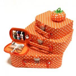 Sewing basket set - orange
