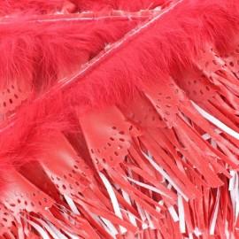 Galon Franges Rabbit rouge x 50cm