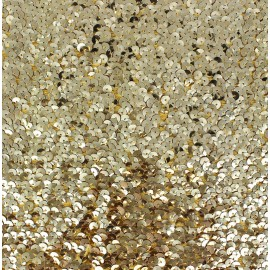 Bustier Sequin Fabric - Golden x 10cm
