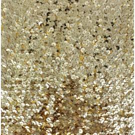 Bustier Sequin Fabric - Golden x 10cm