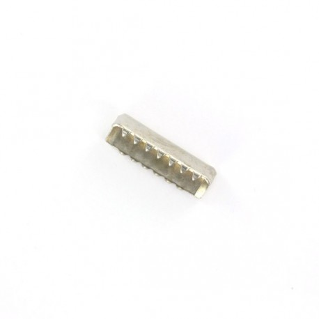 Narrow belt buckle end tip 25 mm - nickel-plated