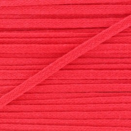 Flat cotton string 3 mm - red