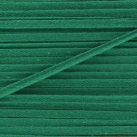 Flat cotton string 3 mm - green