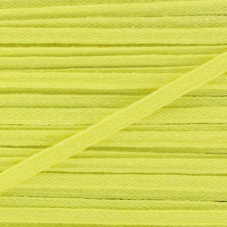 Flat cotton string 3 mm - yellow