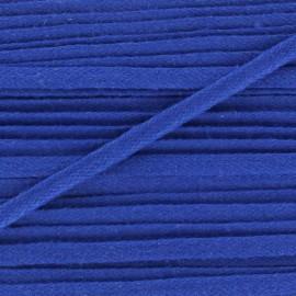 Flat cotton string 3 mm - blue