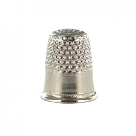 Pickel-plated brass thimble - silver