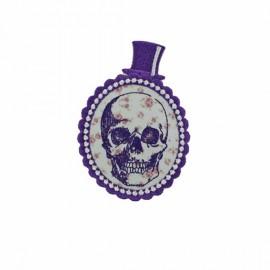 Fashion Hamlet's portrait pink iron-on applique - purple