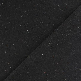 Tissu sweat moucheté framboise x 10cm
