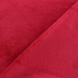 Tissu Velours éponge épais bleu canard x 10cm