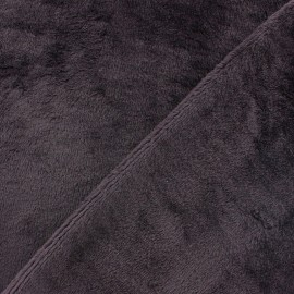 Tissu Velours éponge épais rouge carmin x 10cm