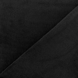 Tissu Velours éponge épais violine x 10cm