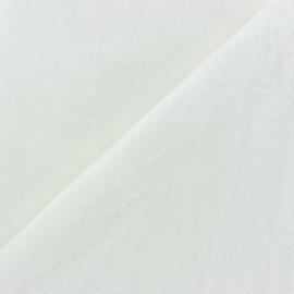 Tissu Velours éponge épais vert x 10cm