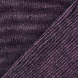 Tissu velours milleraies barbapapa 300gr/ml x10cm