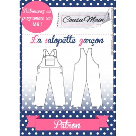 """""""Overalls for boys"""" sewing pattern from Cousu Main - multicolored"""