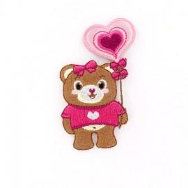 Thermocollant Teddy in Love Ballon-Coeur