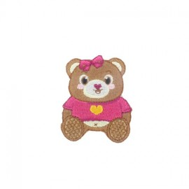 Thermocollant Teddy in Love Girl