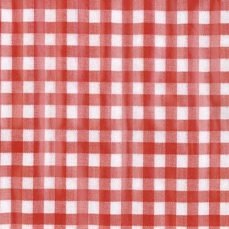 Oilcloth Fabric PRIMA Vichy red x 10cm