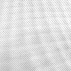 ♥ Coupon tissu 90 cm X 140 cm ♥ Bulgomme Grain - blanc