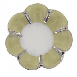 Metal Button, Romantic Flower - Vanilia