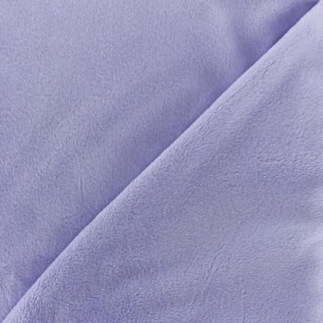 Tissu velours minkee doux ras Vert prairie x 10cm
