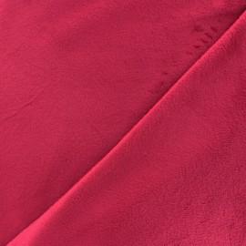 Tissu velours minkee doux ras carmin x 10cm