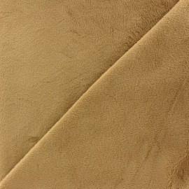 Tissu velours minkee doux ras Gris perle x 10cm