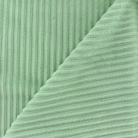 Tissu velours minkee à côtes Bleu dragée x10cm
