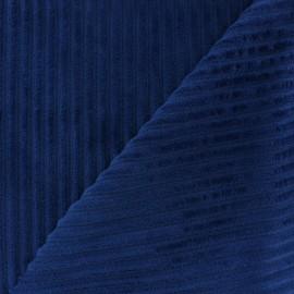 Minkee ribbed velvet fabric - navy x 10cm