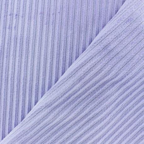 Tissu velours minkee à côtes Vert prairie x 10cm