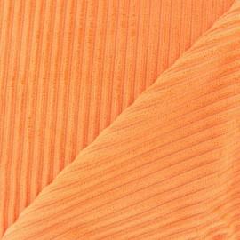 Minkee ribbed velvet fabric - mandarin x 10cm