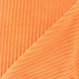 Tissu velours minkee à côtes Glycine x 10cm