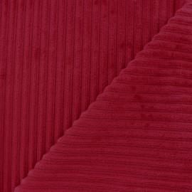 Minkee ribbed velvet fabric - carmin x 10cm