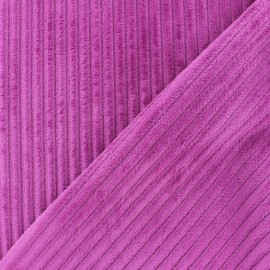 Minkee ribbed velvet fabric - dark purple x 10cm