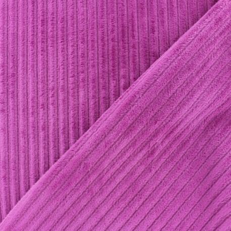 Tissu velours minkee à côtes Bleuet x 10cm