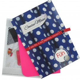 "Fun pocket kit ""Cousu Main"" - fluorescent pink"