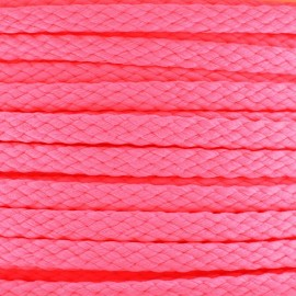 Cordon grand teint 5mm Fluo rose