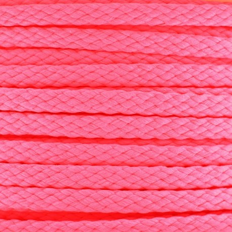 Color-fast Cord 5mm - Fluorescent pink
